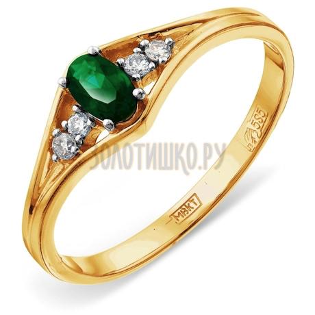 Кольцо с изумрудом и бриллиантами Т941012063_2
