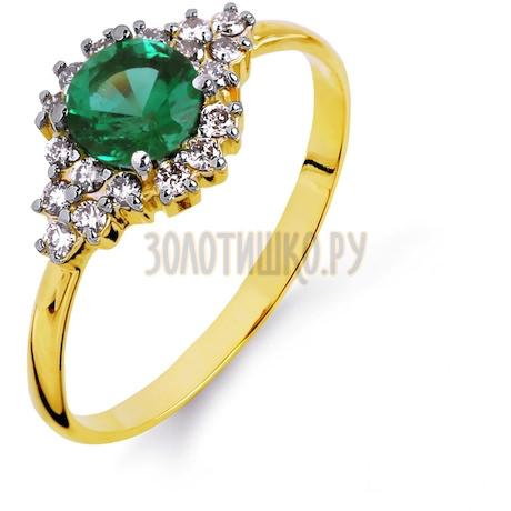 Кольцо с изумрудом и бриллиантами Т941014609_3