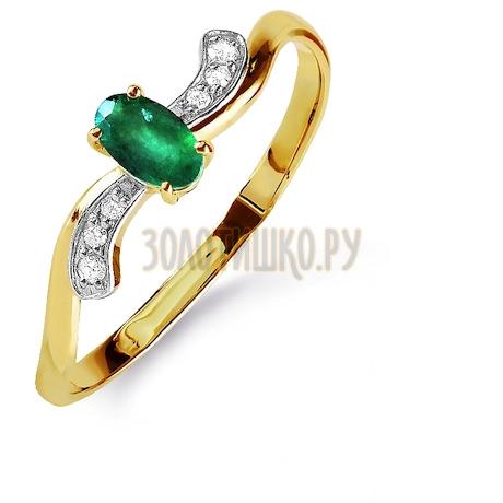 Кольцо с изумрудом и бриллиантами Т941015842_2
