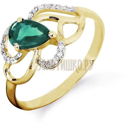 Кольцо с изумрудом и бриллиантами Т941016424_3