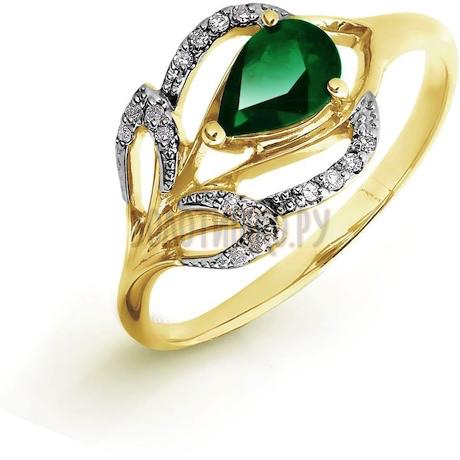 Кольцо с изумрудом и бриллиантами Т941016426_3