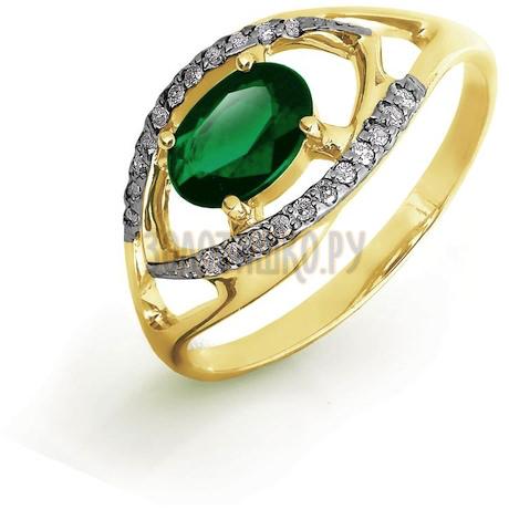 Кольцо с изумрудом и бриллиантами Т941016429_3