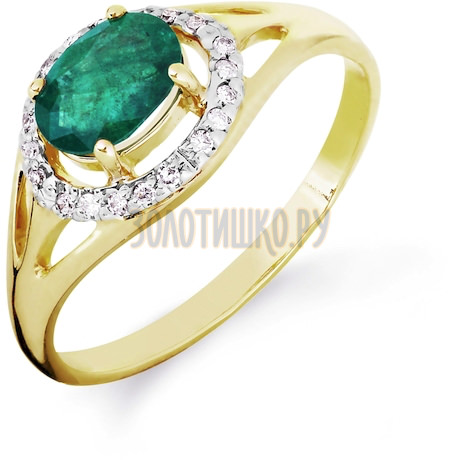 Кольцо с изумрудом и бриллиантами Т941016431_3
