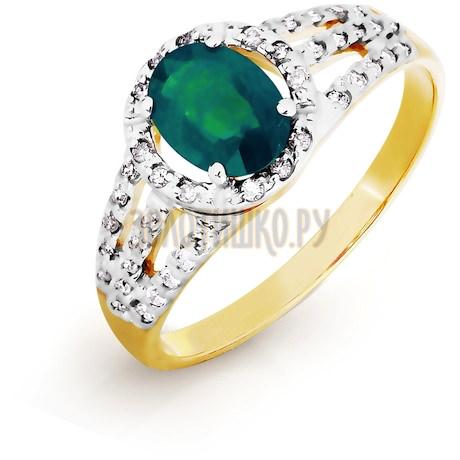 Кольцо с изумрудом и бриллиантами Т941016438_2