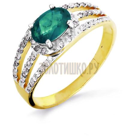 Кольцо с изумрудом и бриллиантами Т941016440_2