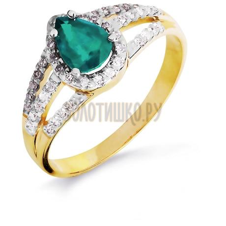Кольцо с изумрудом и бриллиантами Т941016441_2