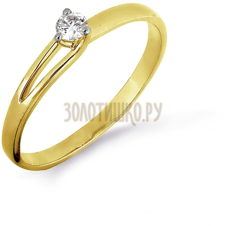 Кольцо с бриллиантом Т941016456