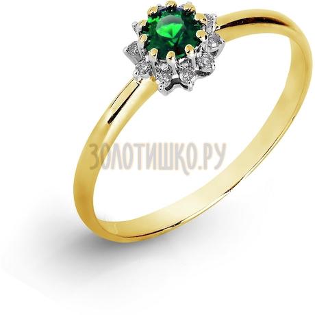 Кольцо с изумрудом и бриллиантами Т941017049_3