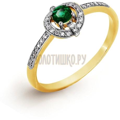 Кольцо с изумрудом и бриллиантами Т941017052_3