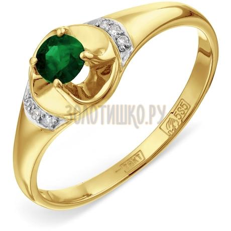 Кольцо с изумрудом и бриллиантами Т941017217_3