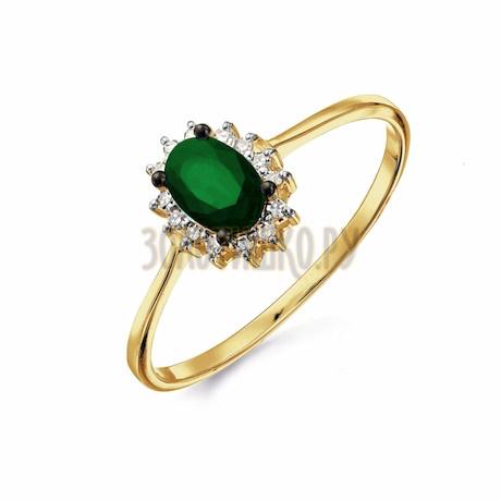 Кольцо с изумрудом и бриллиантами Т941017663_3