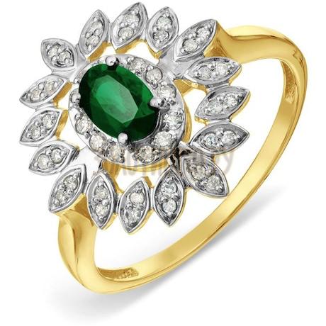 Кольцо с изумрудом и бриллиантами Т941017796