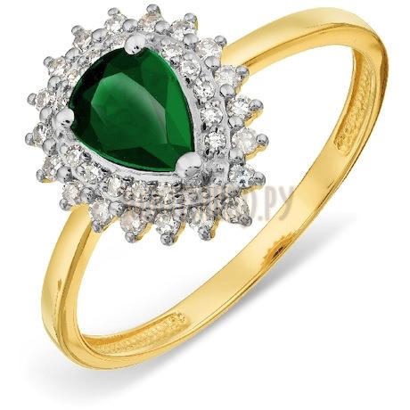Кольцо с изумрудом и бриллиантами Т941017797_3