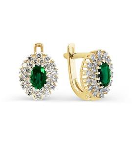 Серьги с изумрудами и бриллиантами Т941025009_3