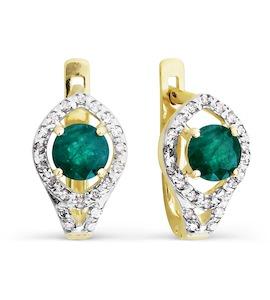 Серьги с изумрудами и бриллиантами Т941026700_3