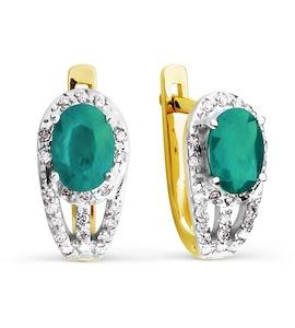 Серьги с изумрудами и бриллиантами Т941026704_2