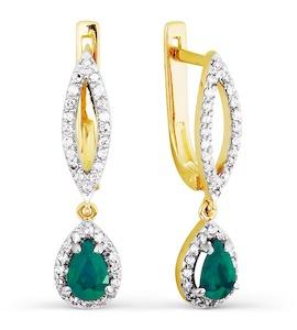 Серьги с изумрудами и бриллиантами Т941026705_3
