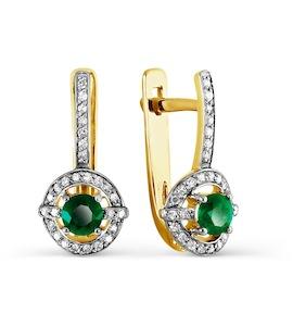 Серьги с изумрудами и бриллиантами Т941027095_3