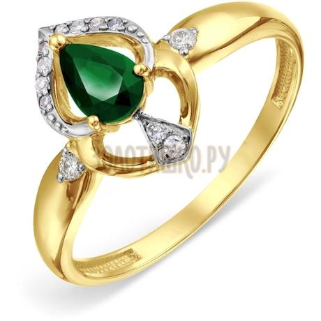 Кольцо с изумрудом и бриллиантами Т946018775_3
