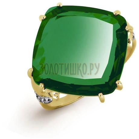 Кольцо с кварцем и фианитами Т947016570-01