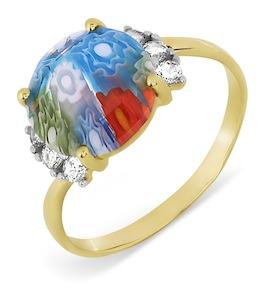 Кольцо с ювелирным стеклом и фианитами Т947017363
