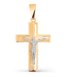 Крестик из красного золота Т13006636