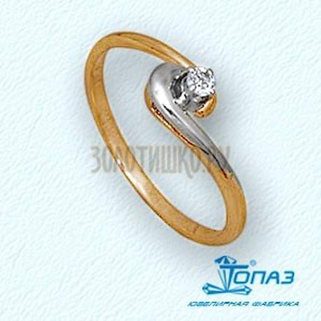 Кольцо с бриллиантом Т13101418