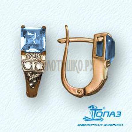 Серьги с топазами и бриллиантами Т13102265