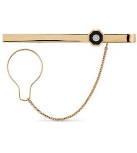 Зажим для галстука с бриллиантами и ониксом Т13108059