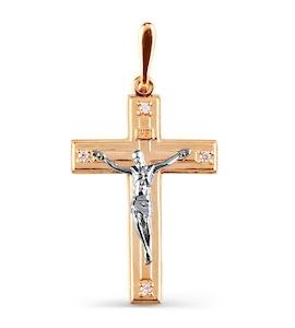 Крестик с фианитами Т13206430