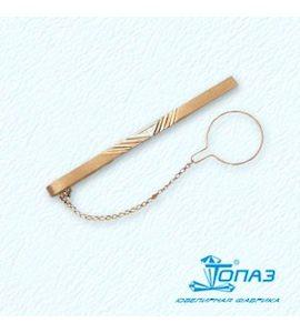 Зажим для галстука с фианитом Т13208001
