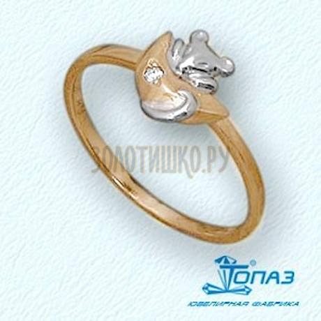 Кольцо с бриллиантом Т14101689