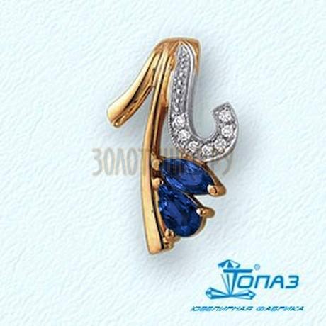 Подвеска с изумрудами и бриллиантами Т14103723