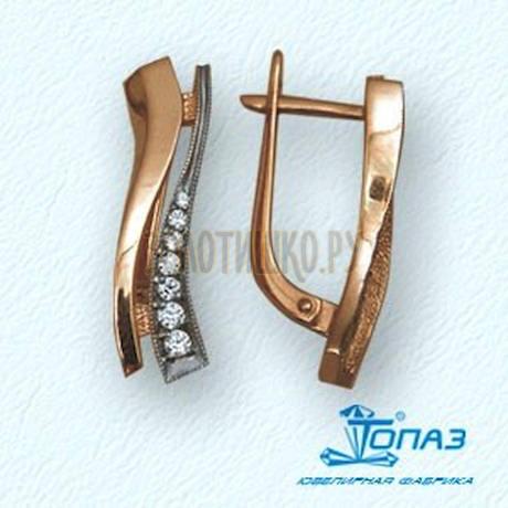 Серьги с фианитами Т14202351