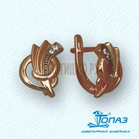 Серьги с фианитами Т14202431