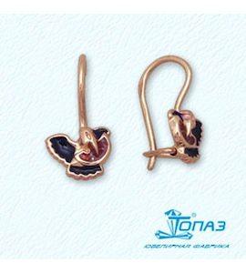 Серьги с эмалью Т15002976