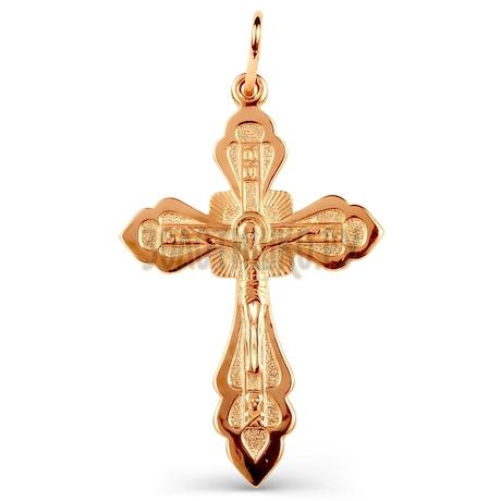 Крестик из красного золота Т20006478