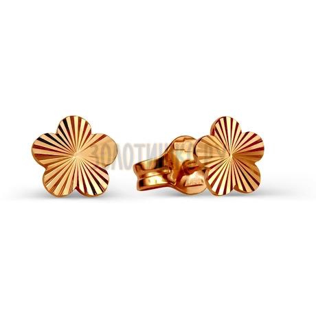 Серьги из красного золота Т100025839