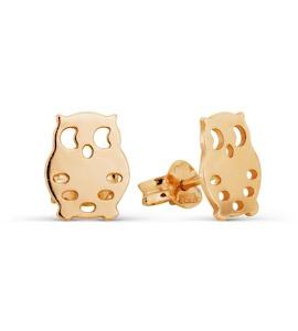 Серьги из красного золота Т100026887