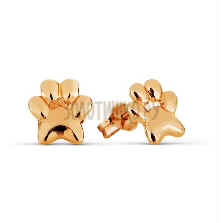 Серьги из красного золота Т100026889