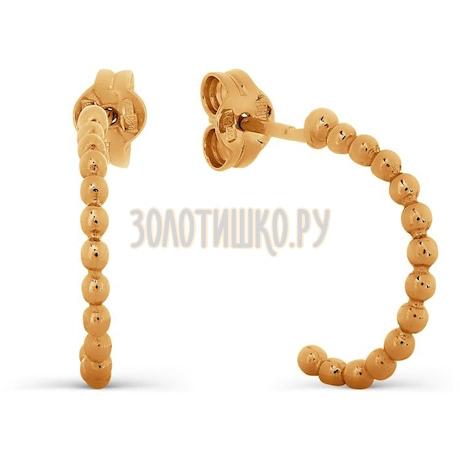 Серьги из красного золота Т100027461