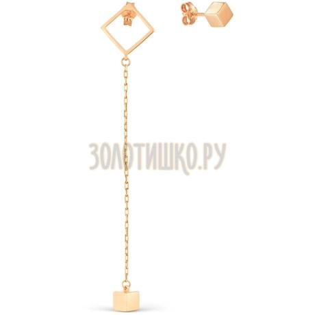 Серьги из красного золота Т100028001