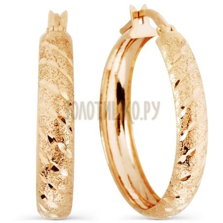 Серьги из красного золота Т100226860