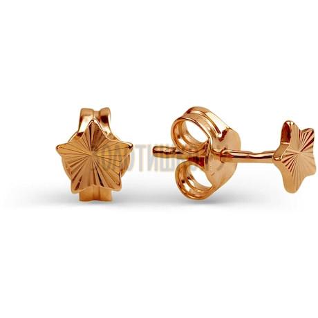 Серьги из красного золота Т100622750
