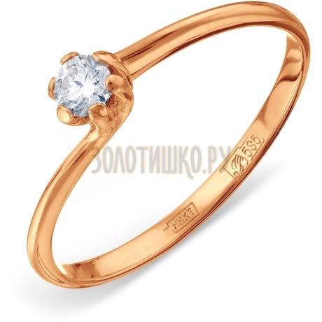 Кольцо с бриллиантом Т101011043