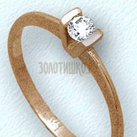 Кольцо с бриллиантом Т101011075