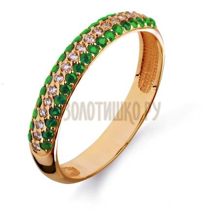 Кольцо с изумрудами и бриллиантами Т101011096