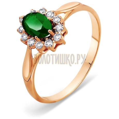 Кольцо с изумрудом и бриллиантами Т101011312_3