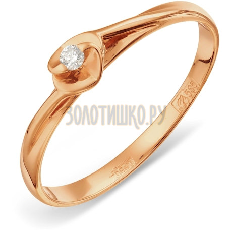 Кольцо с бриллиантом Т101011547