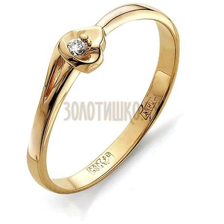 Кольцо с бриллиантом Т101011548